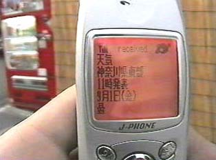Cell phone display
