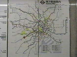 Map of subway routes