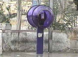 Card-operated public phone