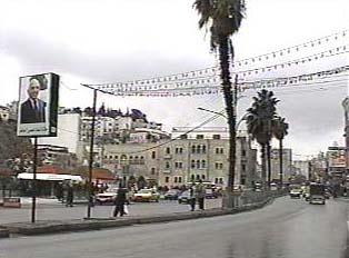 Main street in downtown Amman
