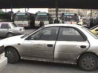 Service taxi  in drop-off  area