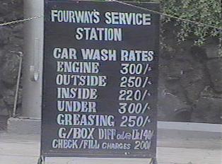 Billboard at gas or petrol station