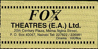 Front of theatre ticket