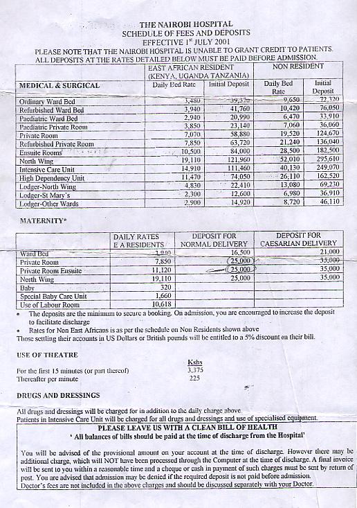Hospital fees