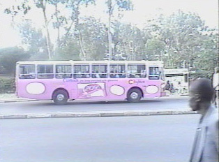Privately owned bus used for public transport