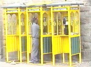 Modern public payphones
