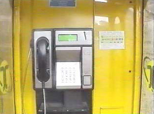 Coin-inserted public payphone