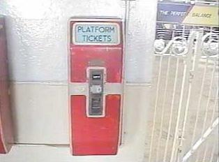 Platform ticket vending machine