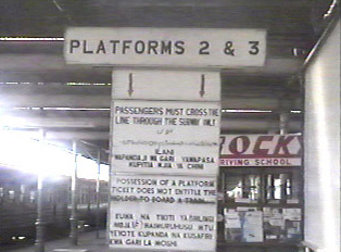 Signboards at railway station