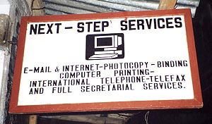 Secretarial service with internet services
