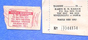 Minibus tickets