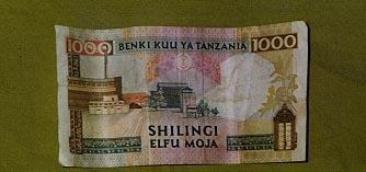 1000 Shilling bill back