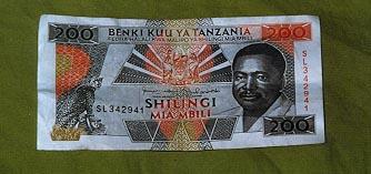 200 Shilling bill front
