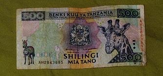 500 Shilling bill front