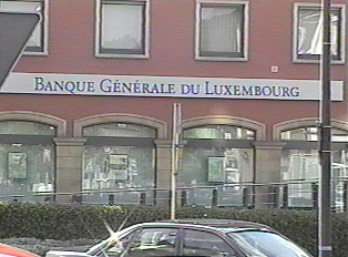 Sign of the General Bank of Luxembourg