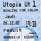 Front of ticket