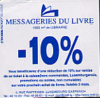 Back of movie ticket, offering a 10% discount at a book store