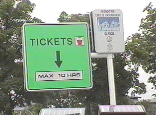 Sign for parking ticket machine