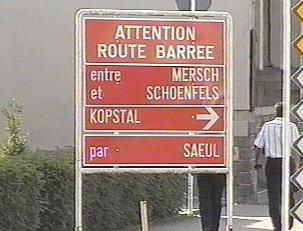 Sign for detours