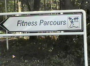 Sign for fitness trail