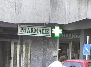 Frontal view of a Pharmacy