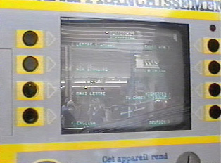 Close-up of computer display of stamping machine