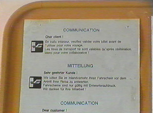 Close-up of announcement sheet