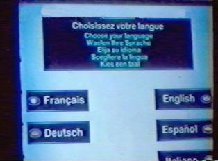 Choose your language (French, German, English, Spanish, or Italian)