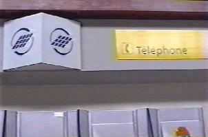 Public telephones in the airport