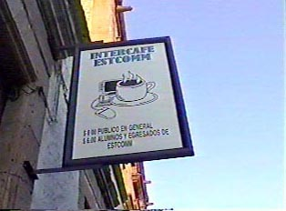 Sign for an internet cafe