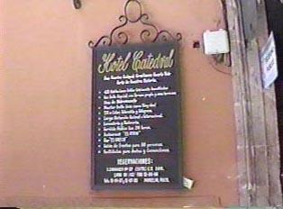 Hotel information board