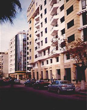 Modern city street