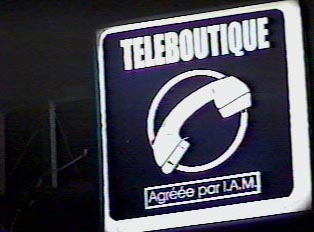 Telephone shop sign