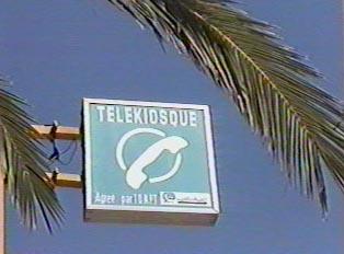 Telephone kiosk sign