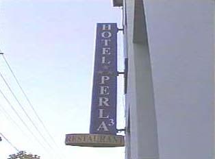 Sign for Hotel Perla