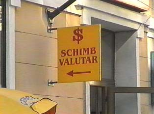 Sign for a money exchange office