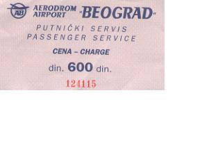 Airport tax receipt