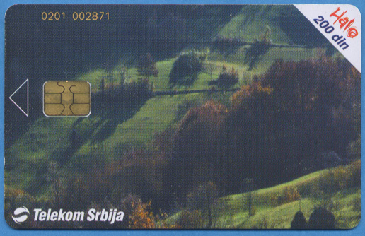 Front of phone card
