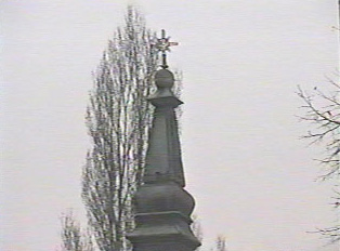 Cross on top of church steeple