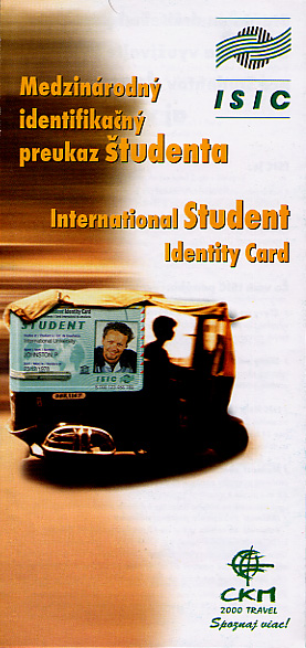 Brochure for international student identity card