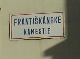 Sign for a city square