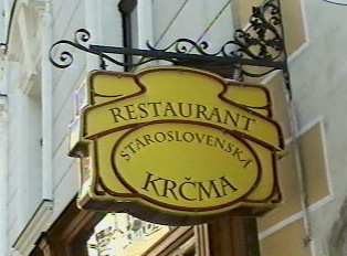 A typical restaurant serving traditional Slovakian food