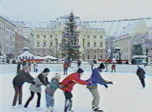 Skating rink in front of the National Theater
