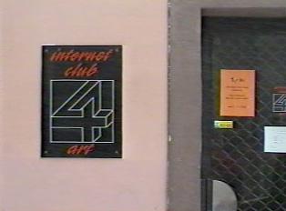 Internet café sign