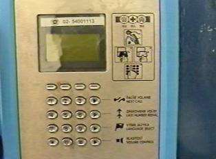 A public pay phone