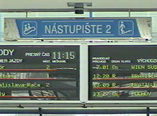 Arriving platform numbers