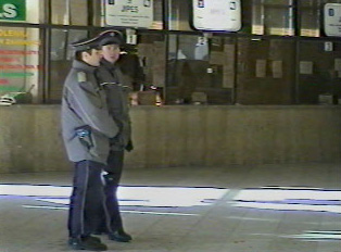 Train station security guards
