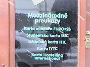 International identity cards sold at a travel agency