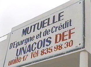 Money exchange and credit office sign