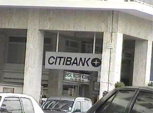 Sign indicating Citibank
